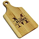 Personalized Cheese Maple Walnut Cutting or Serving Board - Custom Monogrammed (Maple)