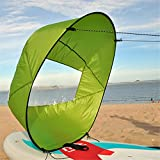 Mexidi 42 inches Foldable Kayak Downwind Kit,Paddle Board Sail Sup Paddle Board Instant Popup&Easy Setup & Deploys Quickly,Wind Sail, Kayak Canoe Accessories, for Kayak Boat Sailboat Canoe (Green)
