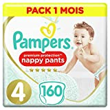 Couches Culottes Pampers Taille 4 (9-15 kg) - Premium Protection Nappy...