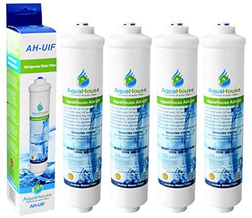 4x AquaHouse AH-UIF filtre à eau externe compatible pour réfrigérateur Samsung LG Daewoo Rangemaster Beko Haier etc Réfrigérateur Congélateur
