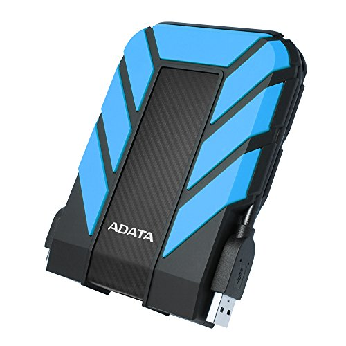 ADATA HD710 Pro - 1 TB, externe Festplatte mit USB 3.2 Gen.1, IP68-Schutzklasse, blau,langlebig, wasserdicht und staubdicht mit militärischer Zähigkeit in mehrschichtigen Festplatten