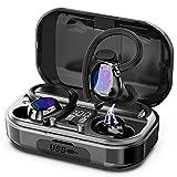 Judneer Écouteurs Bluetooth, Sport IP7 Étanche Écouteur sans Fil, Casque Bluetooth 5.1 Écouteur Sport sans Fil, Hi-FI Stéréo 40 Heures avec Micro Boîte...