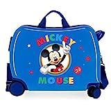 Disney Circle Mickey Maleta Infantil Azul 50x38x20 cms Rígida ABS Cierre combinación 34L 2,1Kgs 4 Ruedas Equipaje de Mano