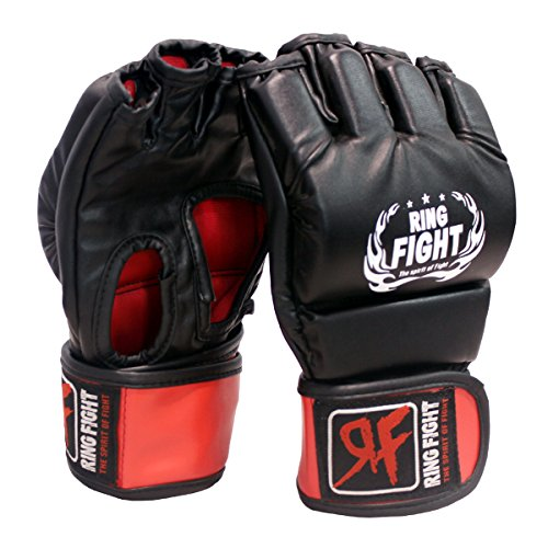 Ceela Sports RF-OFGG-01 MMA Gloves, Small/Medium (Black/Red)