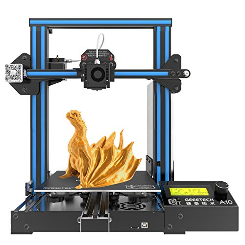 GEEETECH A10 Pro Stampante 3D Prusa I3 Assemblaggio facile e veloce DIY Kit con area di stampa 220220260mm, Ripresa del lavoro in caso di blackout elettrico, scheda madre GT2560 4.1B OPEN SOURCE.