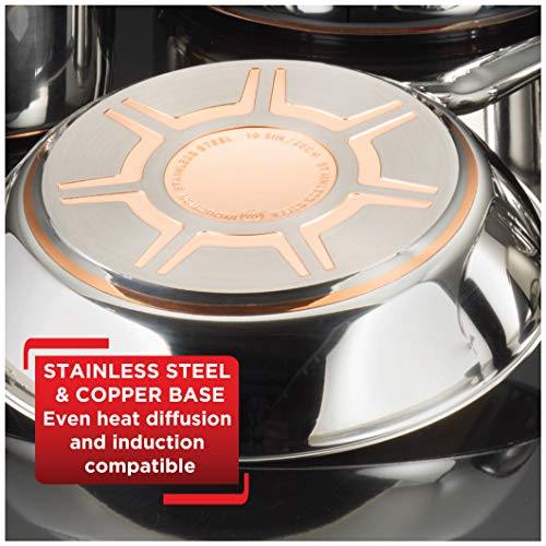 Product Image 5: T-fal C836SD Ultimate Stainless Steel Copper Bottom 13 PC Cookware Set, Piece, Silver