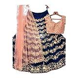 AMIT FASHIONS Designer Indien Exclusif Lehenga Choli Semi-Cousu pour Femme