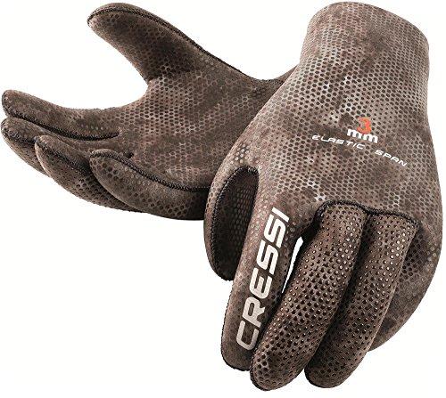 Cressi Tracina Gloves - Guanti per Immersione e Apnea - Premium Neoprene Mimetico 3mm, L