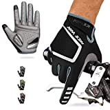 NICEWIN Cycling Gloves Motorcycle Bike Mountain- Road Bicycle Men Women Padded Antiskid Touch Screen Grey L