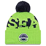 100% Acrylic exterior with Fleece lined interior...very soft, warm, and comfy! Officially Licensed by the NFL and New Era Unisex - Adult One size fits most Patch Logo on Front cuff Embroidered New Era Flag logo on left side of beanie