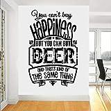 La cerveza no puede comprar la felicidad, pero puedes comprar vinilos de vinilo para pared de cerveza habitación de niño de superhéroe