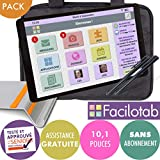 FACILOTAB Pack L Galaxy 10,1 Pouces WiFi - 32 Go - Android 9 + Support +...
