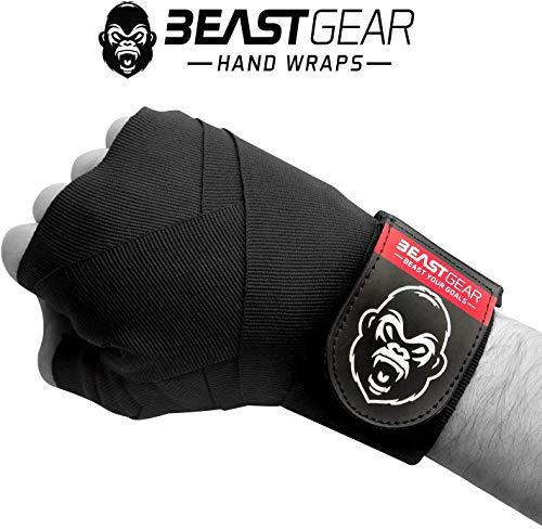 Beast Gear - Vendas Boxeo – Cintas Boxeo Deportes de Combate, MMA, Artes Marciales Muay Thai - Cinta Elástica 4,5 Metros