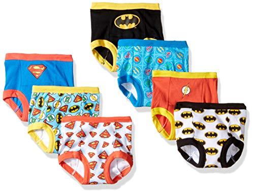 DC Comics Baby Boys' Toddler Superman, Batman and More Training Pants, JL TB 7pk, 2T, 7-Pack