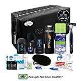 Convenience Kits International Young Men's Premium 19 Piece Travel Kit, Featuring: Axe Hair & Body Products in Black or Brown Toiletry Bag