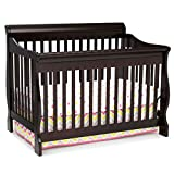 Delta Children Canton 4-in-1 Convertible Crib - Easy to Assemble, Dark Chocolate