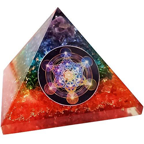 7 Chakra Orgone Pyramid Natural Quartz Positive Energy...