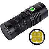 Sofirn BLF SP36 Powerful 6000 Lumen Flashlight USB-C Rechargeable Cree 4 XPL2 LED Neutral White Brightest Outdoor Search Torch With Narsilm V1.2 (Battery Excluded)