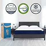 Sleep Innovations Marley 10-inch Cooling Gel Memory Foam Mattress Bed in a Box, Made in the USA, Twin, White