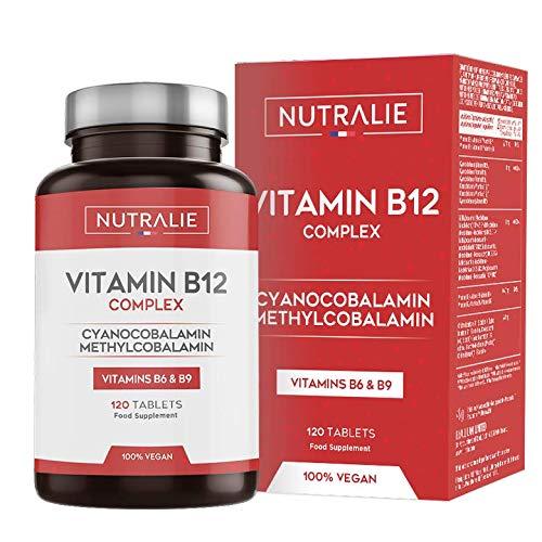 Vitamina B12 Vegana 2000mcg Cianocobalamina y Metilcobalamina | Alta...