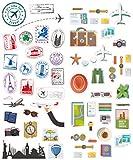 Polaroid Autocollants de voyage colorés et décoratifs pour projets sur...