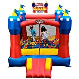 Blast Zone Magic Castle - Inflatable Bounce House with Blower - Premium Quality - Indoor/Outdoor - Portable - Sets Up in Seconds
