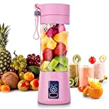ZIYA Rechargeable Portable Electric Mini USB Juicer Bottle Blender for Making Juice, Shakes, Smoothies, Travel Juicer for Fruits and Vegetables, Juicer Mixers Grinder Hand Machine (Multicolour)