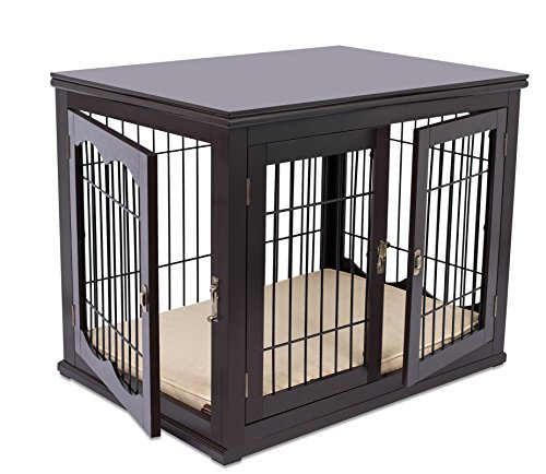Internet's Best Decorative Dog Kennel with Pet Bed...