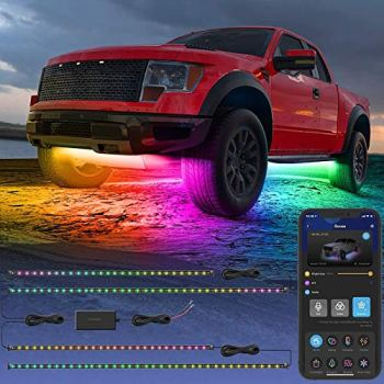 Govee Exterior Car LED Lights, RGBIC Underglow Car Lights with App and Remote Control, 16 Million Colors, Music Mode, DIY Mode, 10 Scene Modes for SUVs, Trucks