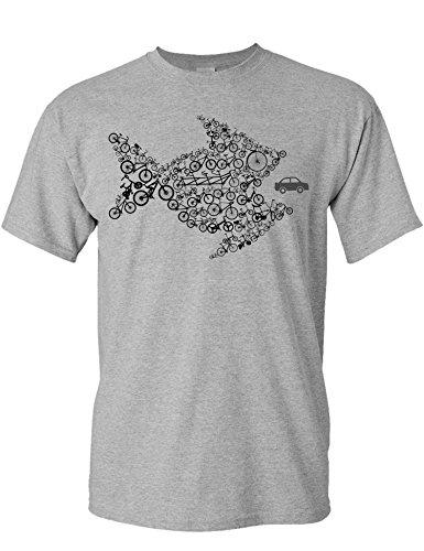 T-Shirt: Bikes of The World Organize! - Fahrrad Geschenke für Damen & Herren - Radfahrer -...