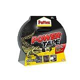 Pattex Power Tape, Ruban adhésif extra fort pour charges lourdes, Bande adhésive toilée tous supports, Rouleau adhésif étanche de 48 mm x 25 m, noir