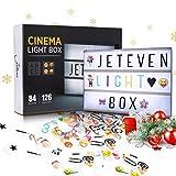 Jeteven Boîte Lumineuse avec 210 Lettres Coloris Cinéma Boîte Lumineuse...