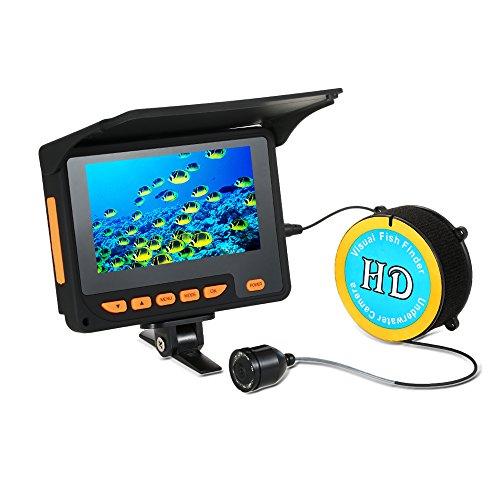 Lixada Ecoscandaglio da Pesca 20M 1000TVL Pesca Finder Subacqueo 4.3'Monitor LCD 8 Infrarossi IR LED Notte Telecamera per Pesca sul Ghiaccio 140  Grandangolare