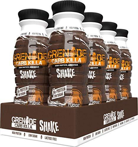 Grenade Carb Killa High Protein Shake Fudge Brownie, 8 x 330 ml