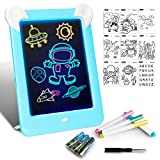 LAPPAZO Tableta de Dibujo Pizarra 3D Mágico con Luces LED Educativo Infantil Dibujo & Marco de Fotos Regalos Juguetes para Niños