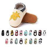 Chaussures Bebe Fille Garçon Premier Pas Chaussons Enfant Antidérapants Souple Cuir PU Pantoufles Animaux Chaussettes Semelle Bottines-1 BGCJL 18-24 Mois