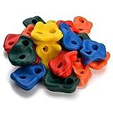 WADEO 20 Piezas Presas de Escalada para niños, Textured Escalada, Escalar Kit para Juego de Patio...
