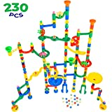 MagicJourney Giant Marble Run Toy Track Super Set Game I 230 Piece Marble Maze Building Sets w/ 200...
