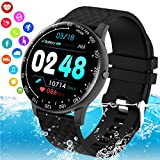 iFuntecky Smart Watch,Smartwatch for Android Phones, Ip67 Waterproof Fitness Watch with Blood Pressure Heart Rate Monitor Activity Tracker Bluetooth Smartwatches for Samsung iOS Women Men