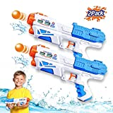 ZHENDUO 2Pcs Water Gun, Super Soaker Water Guns Power Popper Gun 500CC Squirt Guns Water Pistol Water Blaster Toys for Boys Girls Swimming Pool Toys Water Fighting Toy Boys Girls Outdoor Games
