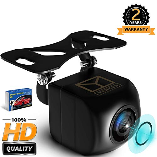 Backup Camera for Car - HD Reverse Camera with Starlight Night Vision - Waterproof Vehicle Back Up Rear View Camera Parking Lines On/Off - Wide View Angel 149 Degrees - High Definition by Yanees