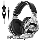 SADES SA810 New Updated Xbox One Headset Over Ear Stereo Gaming Headset Bass Gaming Headphones with Noise Isolation Microphone for New Xbox One PC PS4 Laptop Phone(Camouflage)