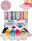 Toddler Girls Baby Grip Socks Gift for 1-3 Year Old Girls Socks - Anti Slip Non Skid Socks W/Strap Age 1 Toddler Girl Gifts - 12-24 Month Girls Socks Tiny Captain