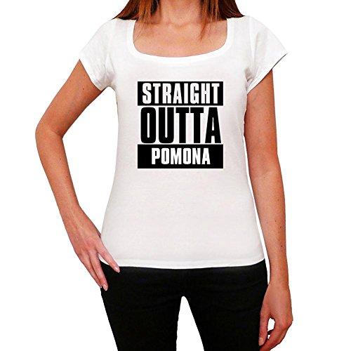 Cityone Straight Outta Pomona, Maglietta per Donna, Maglietta Straight Outta, Regalo Donna