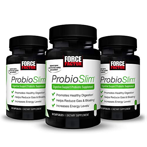 ProbioSlim Probiotic and Weight Loss Supplement for Women and Men with Probiotics, Burn Fat, Lose Weight, Reduce Gas, Bloating, Constipation, and Support Digestive Health, Force Factor, 180 Capsules 1