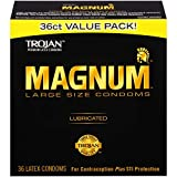 Trojan Magnum Large Size Lubricated Condoms - 36 count