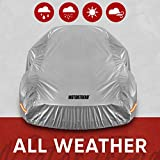 Motor Trend SafeKeeper All Weather Car Cover - Advanced Protection Formula - Waterproof 6-Layer for Outdoor Use, for Sedans Up to 210' L