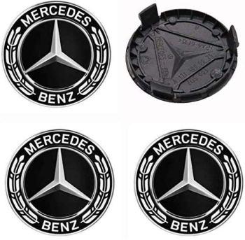 Smartfix Mercedes center caps suitable for all MB class - A B C E S G CLASS CLA CLS SLK ML rims 75mm