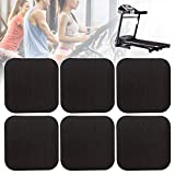 Erthree Treadmill Shock Absorbing Mat,Home Anti-Vibrasion Sound Insulation Thickened Floor Pad for Treadmill