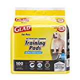 Glad for Pets Black Charcoal Puppy Pads | Puppy Potty Training Pads That ABSORB & NEUTRALIZE Urine Instantly | New & Improved Quality Dog Training Pads, 100 count